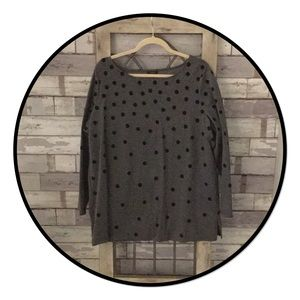 NWOT Talbots Long Sleeve Polka Dot Top